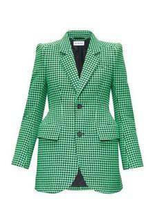 Balenciaga Hourglass single-breasted houndstooth jacket