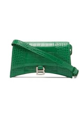 Balenciaga Hourglass Sling crocodile-effect leather bag
