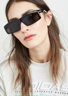Balenciaga Hybrid Acetate Narrow Sporty Sunglasses