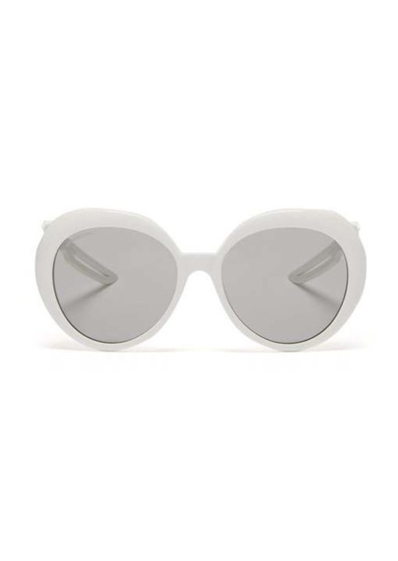 Balenciaga Hybrid round acetate sunglasses