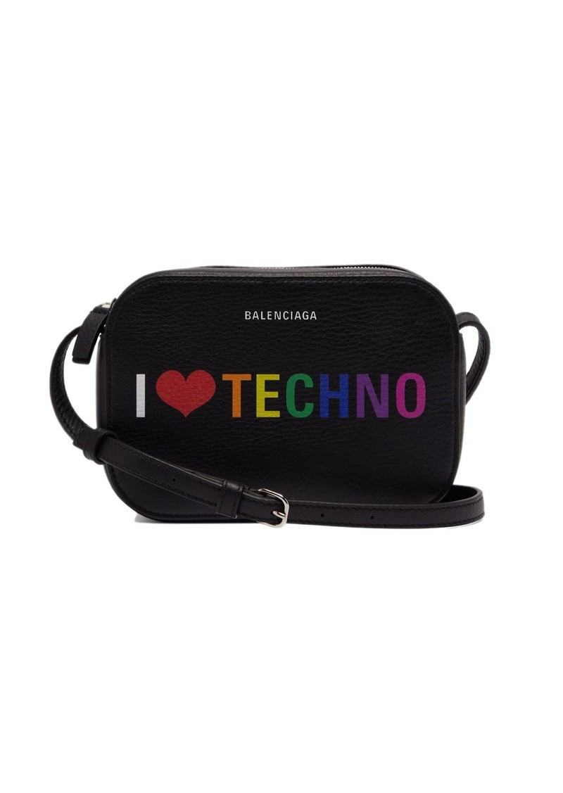 Balenciaga I Love Techno Everyday Camera XS leather bag