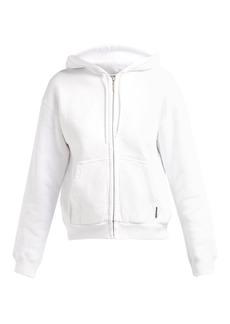 Balenciaga I Love Techno zip-through cotton hooded sweatshirt