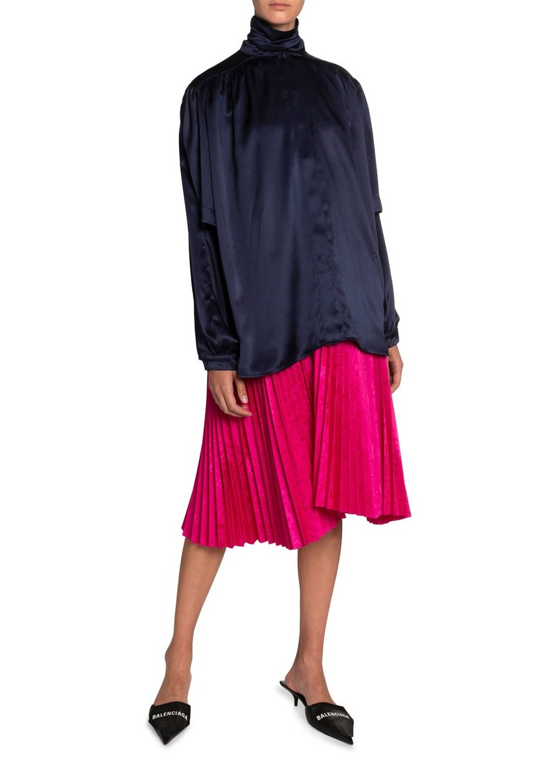 Balenciaga Jacquard Pleated Skirt