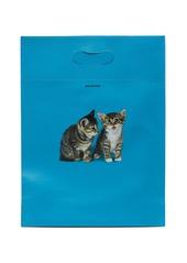 Balenciaga Kitten-print leather tote bag