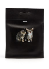 Balenciaga Kitten-print leather tote bag