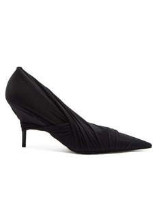 Balenciaga Knife draped mesh pumps