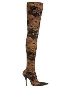 Balenciaga Knife lace over-the-knee boots
