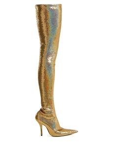 Balenciaga Knife over-the-knee bootie