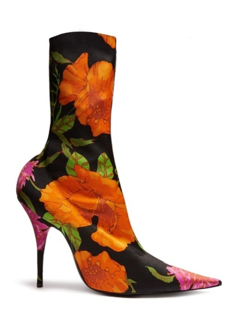 Balenciaga 2017 Knife Floral Boots discount get to buy buy cheap how much YRcZpe