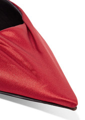 Balenciaga Knife satin and leather mules