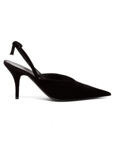 Balenciaga Knife velvet slingback pumps