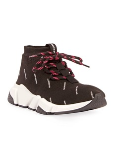 Balenciaga Lace-Up Logo Stretch Sneakers