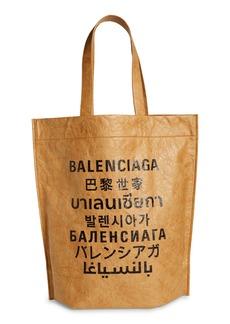 Balenciaga Languages Leather Tote