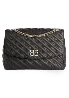 Balenciaga Large BB Leather Shoulder Bag