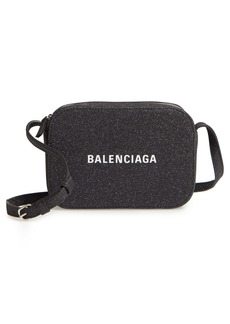 Balenciaga Large Everyday Glitter Calfskin Camera Bag