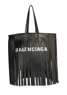 Balenciaga Laundry Cabas Satchel Bag with Fringe Detail