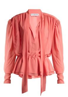 Balenciaga Lavalliere blouse