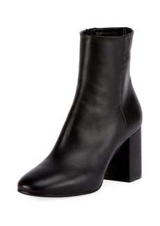 Balenciaga Leather Block-Heel Ankle Boot