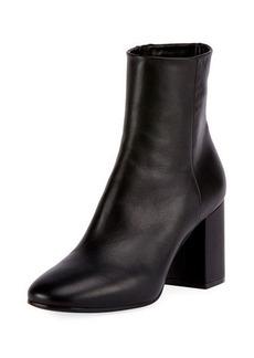 Balenciaga Leather Block-Heel Ankle Boot