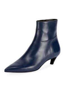 Balenciaga Leather Point-Toe Booties