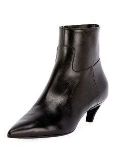 Balenciaga Leather Pointed Zip Booties