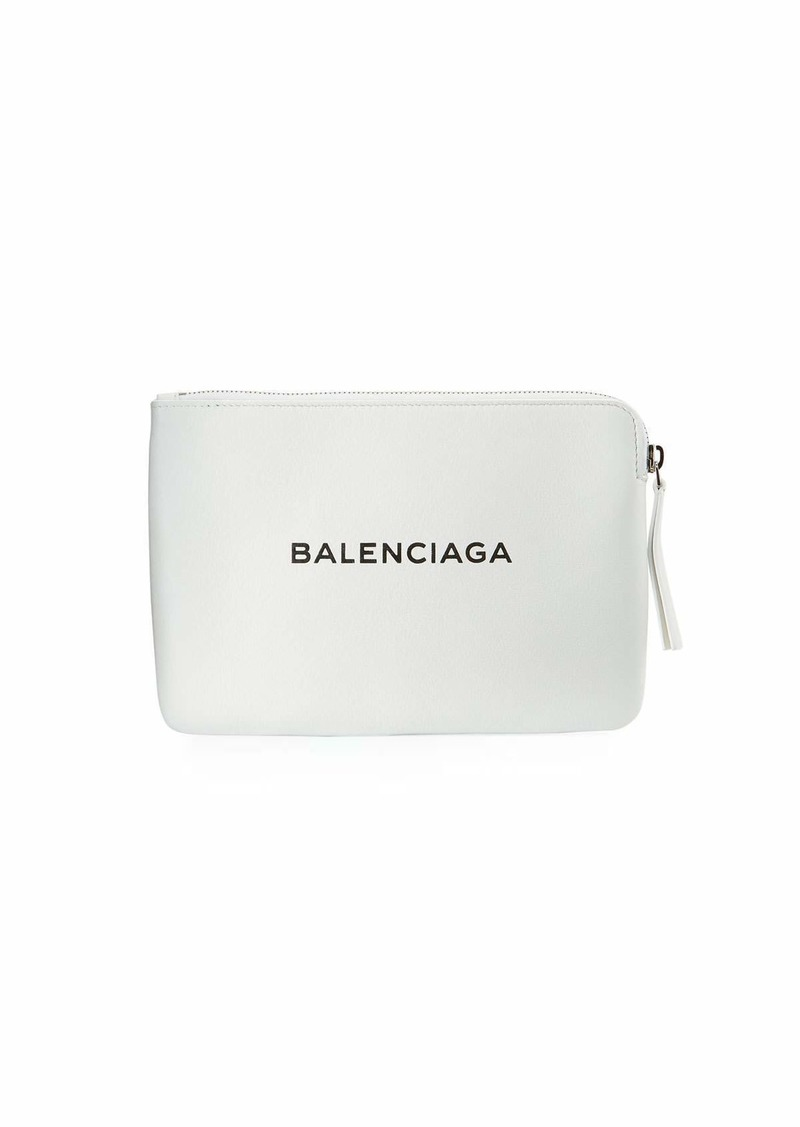 Balenciaga Leather Shopping Pouch Bag