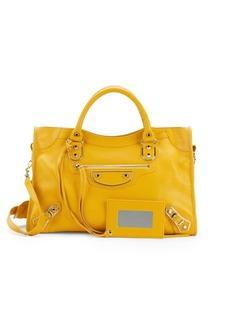Balenciaga Leather Shoulder Tote Bag