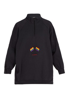 Balenciaga LGBTQ-embroidered cotton-blend sweatshirt