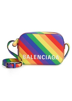 Balenciaga LGBTQIA+ Pride Rainbow Leather Crossbody Camera Case
