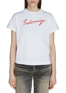Balenciaga Lipstick Logo Tee