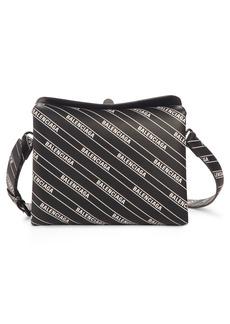 Balenciaga Logo Calfskin Leather Crossbody Bag