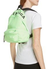 Balenciaga Logo Canvas Backpack