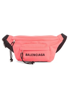 Balenciaga Logo Canvas Belt Bag