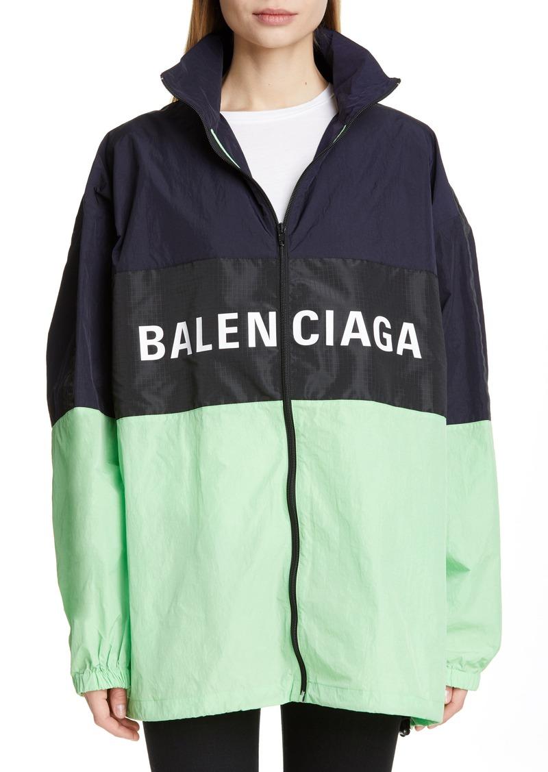 f6de4b857 Balenciaga Balenciaga Logo Colorblock Windbreaker Jacket | Outerwear