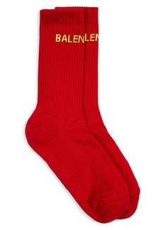 Balenciaga Logo Crew Socks