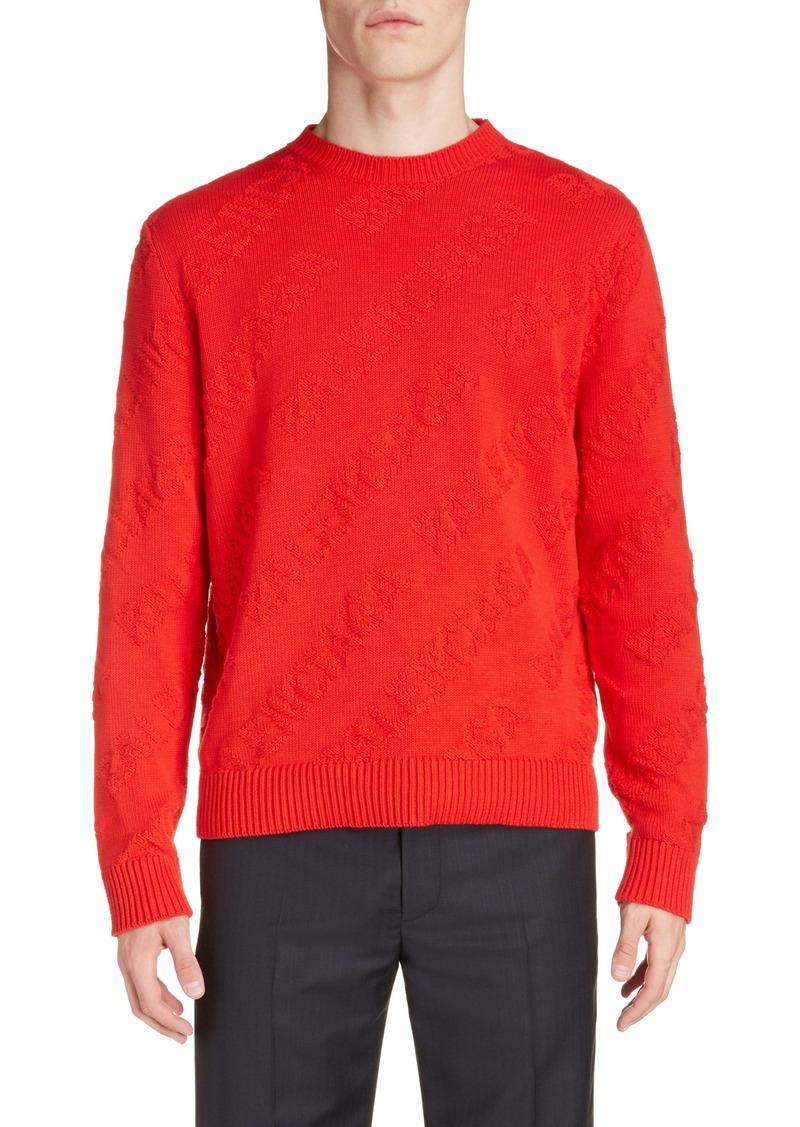 Balenciaga Logo Crewneck Sweater (Regular Retail Price: $1,050)