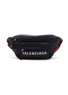 Balenciaga Logo-embroidered belt bag