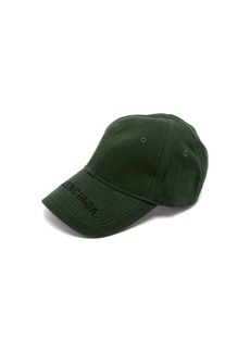 Balenciaga Logo-embroidered cotton cap