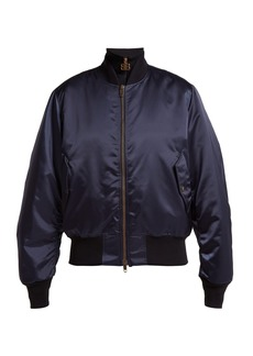 Balenciaga Logo-embroidered satin bomber jacket