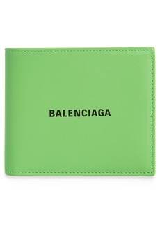 Balenciaga Logo Leather Bifold Wallet