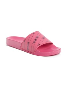 Balenciaga Logo Pool Slide Sandal (Women)