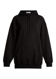 Balenciaga Logo-print cotton hooded sweatshirt