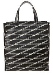 Balenciaga Logo Print Leather Shopper Tote