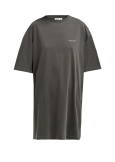 Balenciaga Logo-print oversized cotton T-shirt