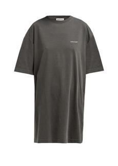 Balenciaga Logo-print oversized cotton T-shirt
