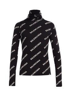 Balenciaga Logo-print roll-neck sweater