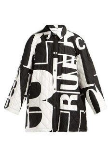 Balenciaga Logo-printed quilted-cotton coat