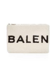 Balenciaga Logo Shearling Fur Pouch