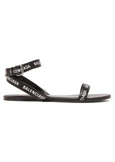 Balenciaga Logo-strap black sandals