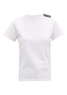 Balenciaga Logo-tab cotton T-shirt